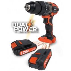 trapano avvitatore + compressorino dual plus 20/40V 1,5AH